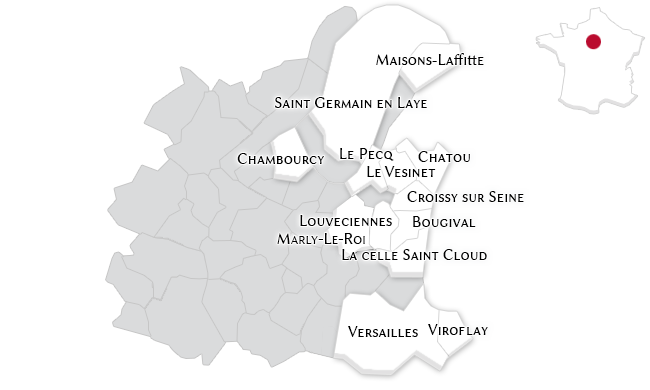 The luxury properties in the Yvelines